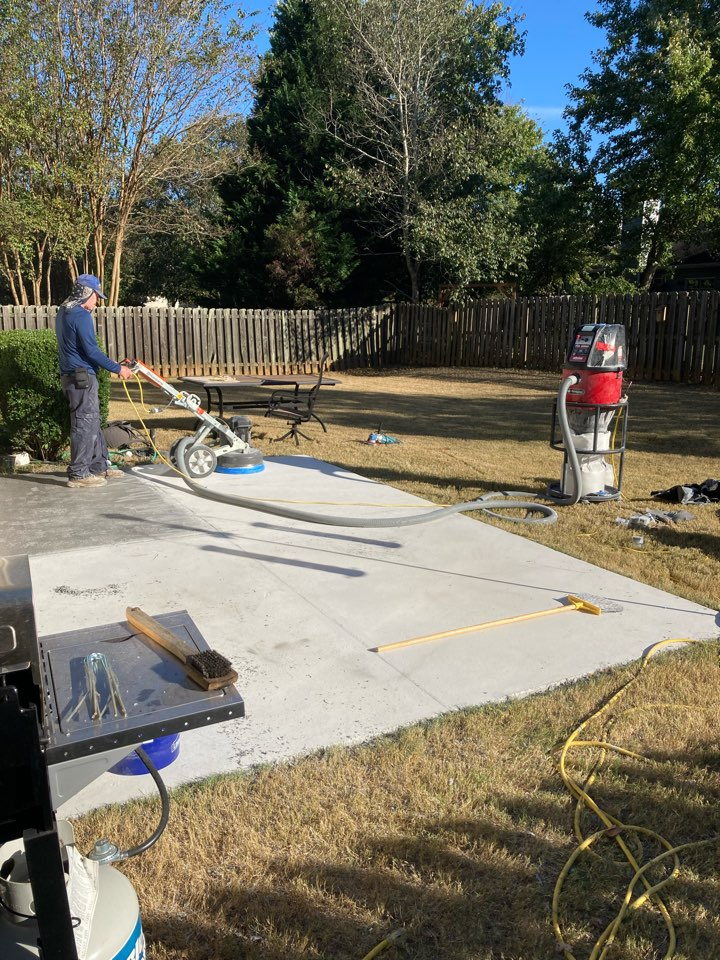 Roswell, GA - We are prepping this patio to resurface with Graniflex flake