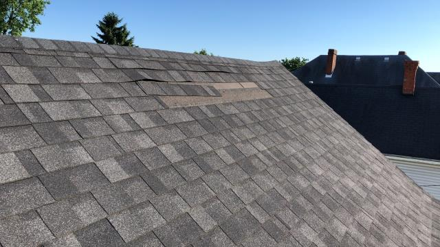 New Albany, IN - Missing Shingles. High Nailing. Poor Install. Wind damage. Storm Damage. New Roof Estimate.