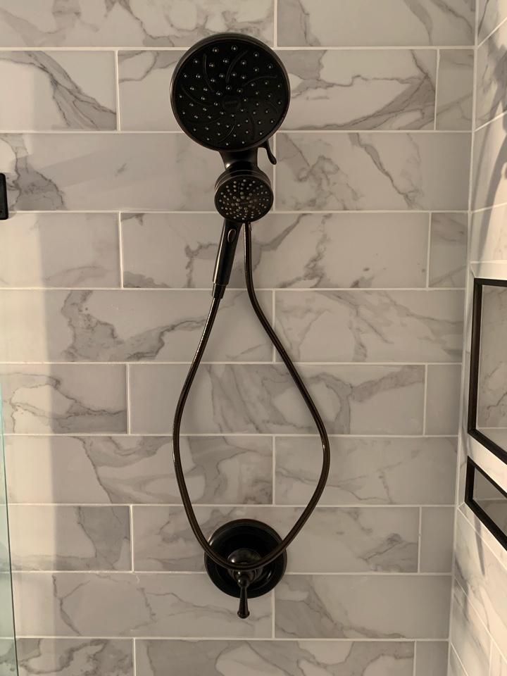 Marietta, GA - Replaced old leaking shower valve, and installed new Moen shower valve.