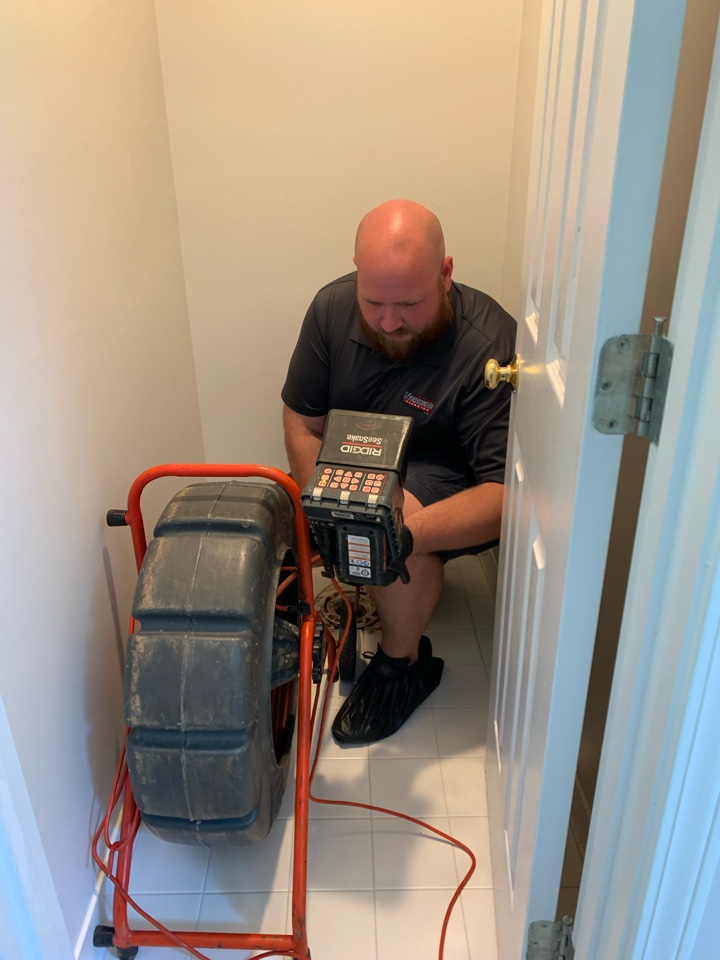 Alpharetta, GA - Toilets backing up in the two upstairs bathrooms. Pulled the master toilet and cleared the blockage. Finally ran the sewer camera to inspect and ensure the blockage was gone.