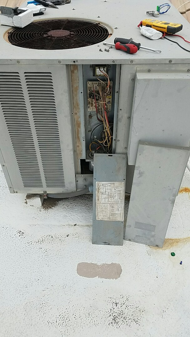 Peoria, AZ - Goodman Packaged Gas Electric heater repair.