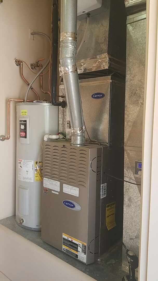 El Mirage, AZ - Heat maintenance on two Carrier Gas Furnace equipped for Propane.