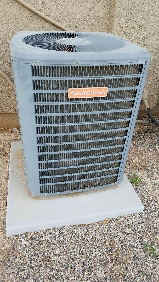 Litchfield Park, AZ - Air conditioning service on Goodman air conditioner