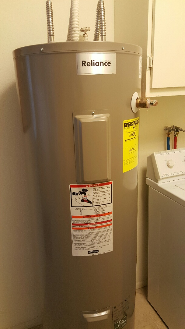 Sun City, AZ - Water heater drain and flush & spring tune-up on Goettl air conditioner