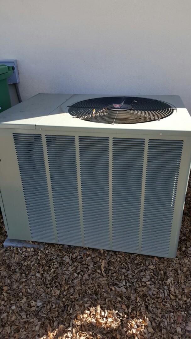 Sun City, AZ - AC inspection on Rheem air conditioners.