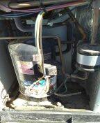 Sun City West, AZ - Maintenance on a package unit.