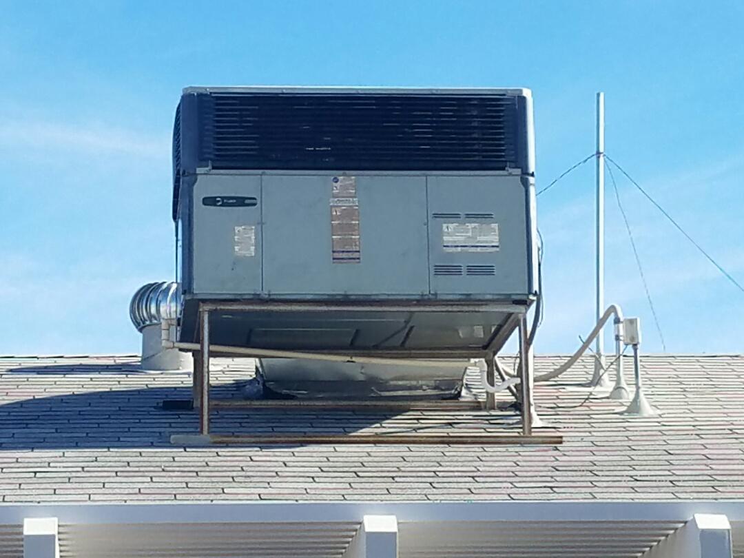 Sun City West, AZ - Cooling Maintenance for Trane Packaged Heat Pump System.
