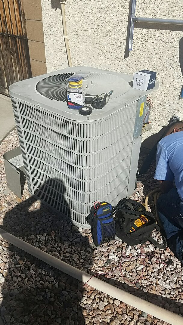 El Mirage, AZ - No cool concern on Goodman Split Heat Pump System.
