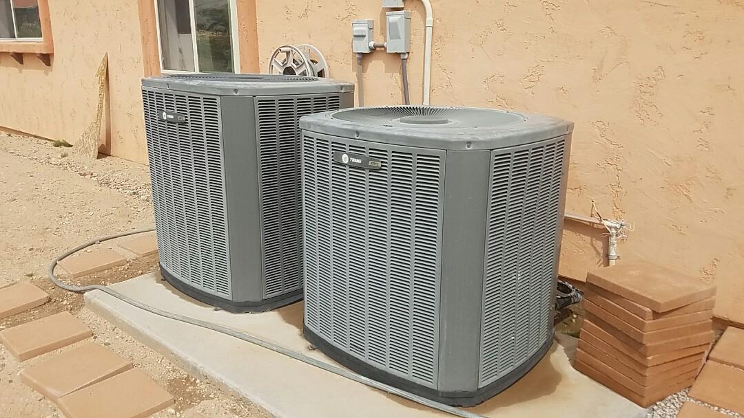 Litchfield Park, AZ - Two system Maintenance on Trane Split Heat Pump Systems for Care Club Member.