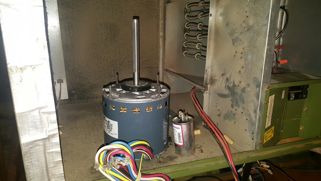 Phoenix, AZ - Blower motor replacement on Rheem air handler