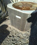 Buckeye, AZ - A/C maintenance on a split furnace.