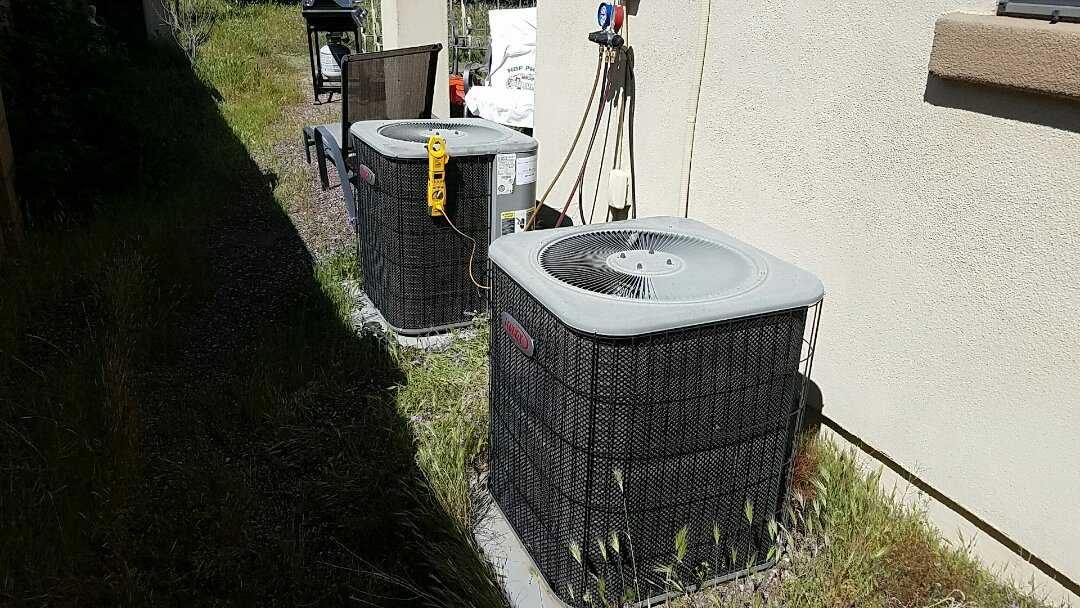 Peoria, AZ - Seasonal Cooling maintenance on two Lennox Split Gas Electric systems.