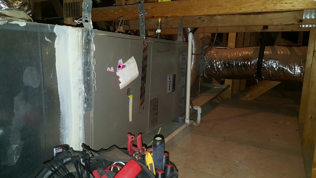 Waddell, AZ - Maintenance on York gas furnace and condensate drain on air conditioner.