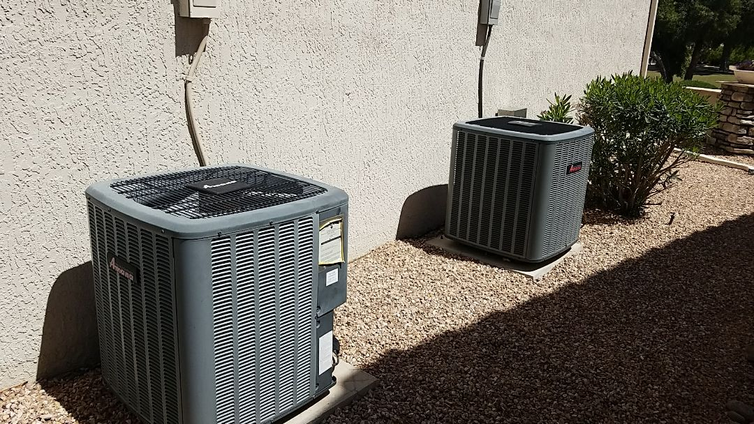 Sun City West, AZ - Seasonal Cooling maintenance on two Amana Split Gas Electric systems for Grand Canyon Care Club Member.