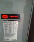 Sun City, AZ - Spring maintenance on a Trane split system.