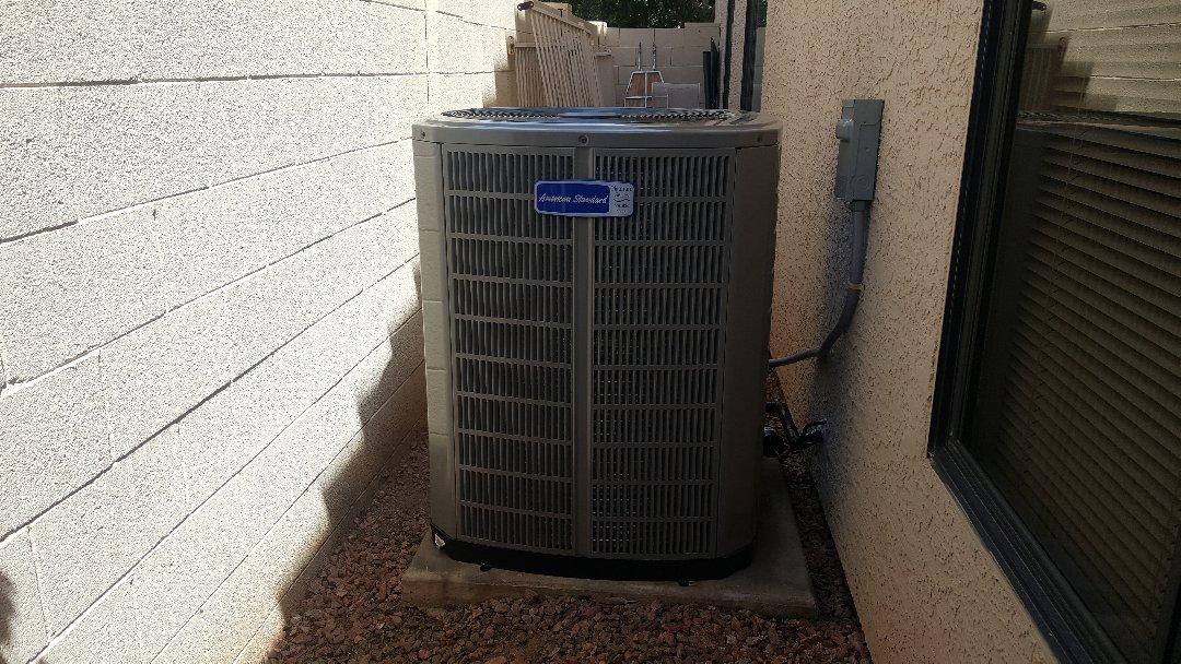 Avondale, AZ - Installation of new Trane - American Standard Platinum 18 SEER heat pump system.