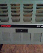 Surprise, AZ - Spring maintenance on a gas furnace split Trane system.