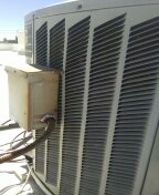 Glendale, AZ - Routine A/c maintenance on a split system.