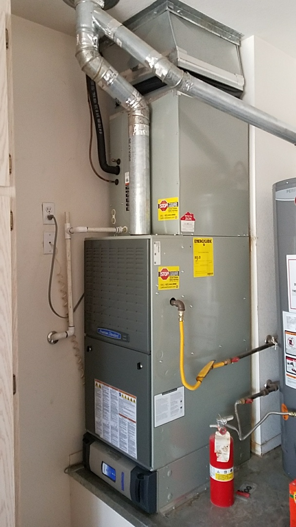 Sun City West, AZ - Seasonal Cooling Maintenance on American Standard Split Gas Electric R-410a Refrigerant System for Grand Canyon Home Services Care Club Member!