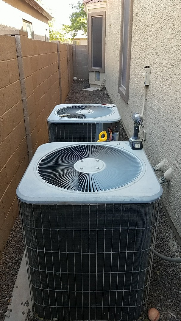 Surprise, AZ - Triple Play Maintenance on AC equioment, water heater, and main electrical panel inspection.
