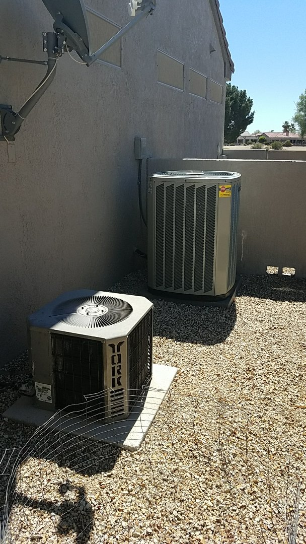 Surprise, AZ - Replace defective indoor Thermostatic Expansion Valve (TXV) on Trane split gas electric system and performed two system seasonal cooling maintenance for new Grand Canyon Home Services Care Club Member.