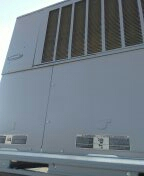 Sun City, AZ - Air Conditioning maintenance on a Carrier  package unit.