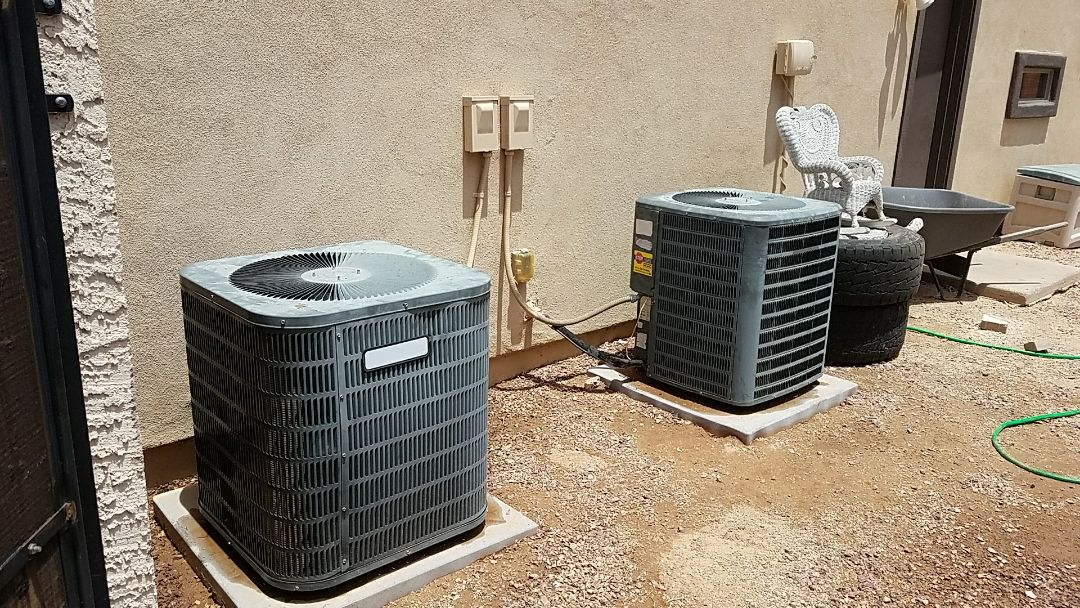 Peoria, AZ - Compressor replacement and two system seasonal cooling maintenance.