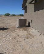 Wittmann, AZ - A/C maintenance on a split system.