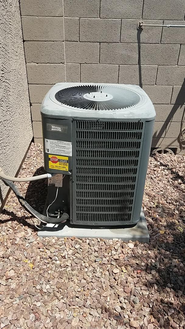 Surprise, AZ - Replaced failed dual run capacitors and performed seasonal cooling maintenance