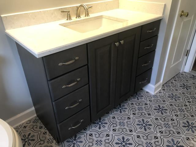 Wilmington, DE - Bella KItchen & Design is finished the Rockland Renovation. We installed two new baths for these clients.
