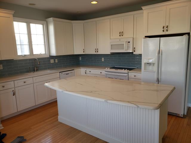 Rehoboth Beach, DE - Kitchen Completed in Rehoboth Beach, DE Wellborn Cabinets and  Cambria Quartz Counter tops