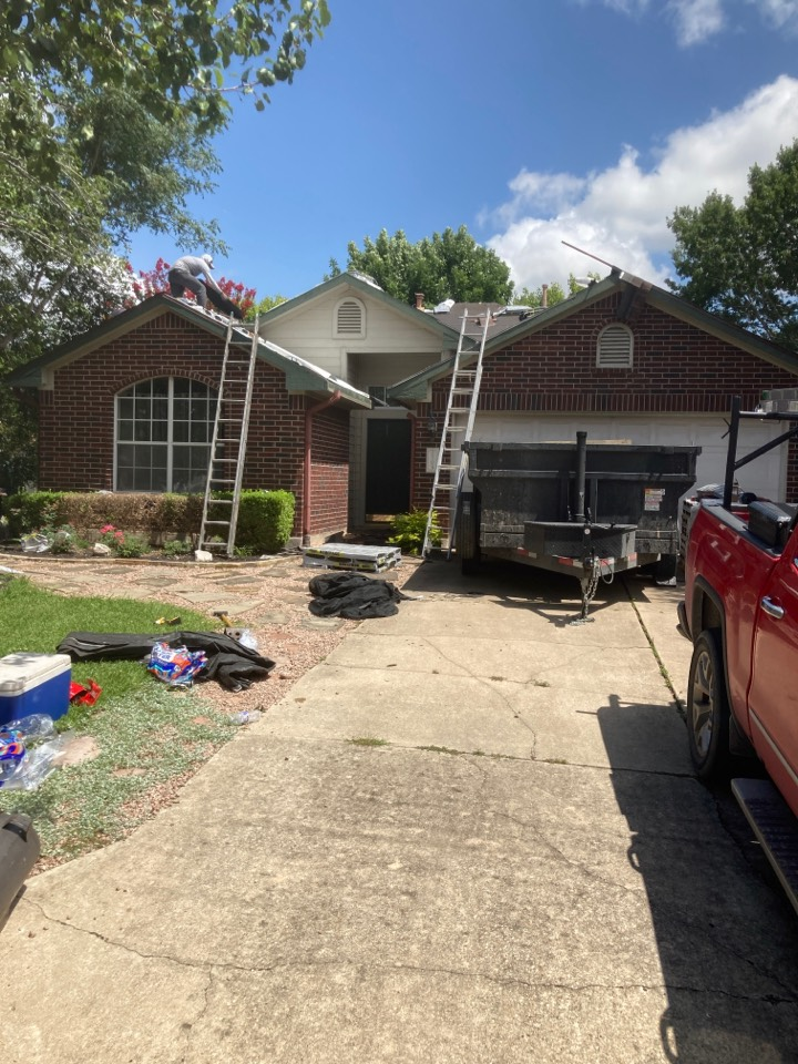 Leander, TX - Roof replacement from hail damage.