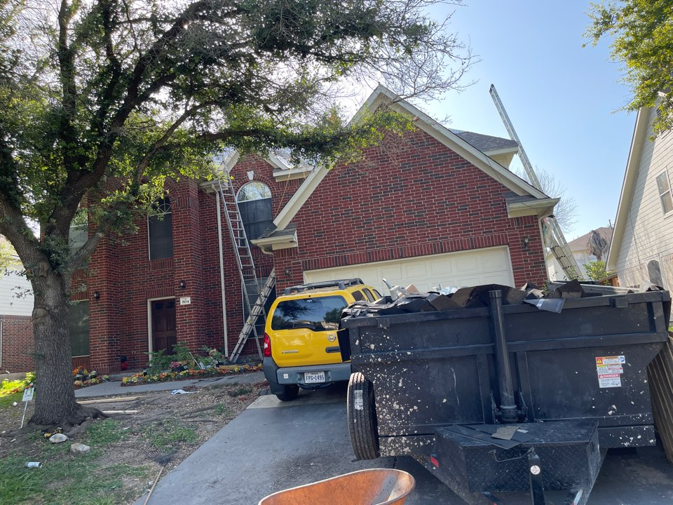 Pflugerville, TX - Roof replacement in progress