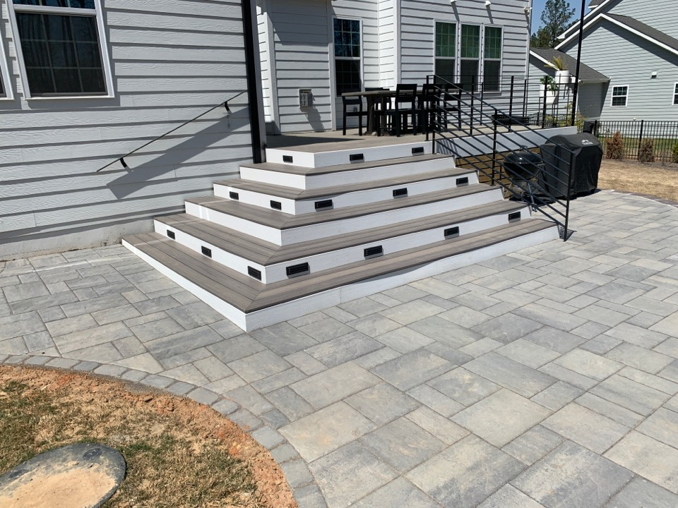 Raleigh, NC - Installed recessed step lights with LED lamps