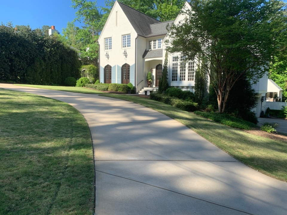 Raleigh, NC - Installing new LED up lighting, path Loghting and down lighting on house, sidewalks, Magnolias and Crape Myrtles