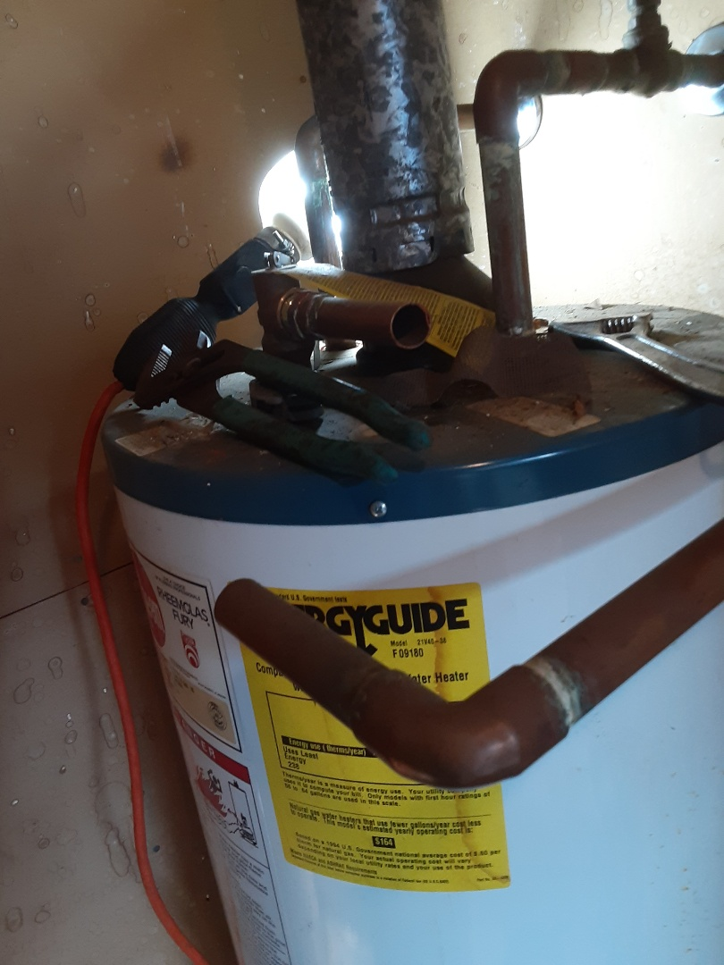 Mobile, AL - Plumbing services on hot water Heater in Mobile Ala