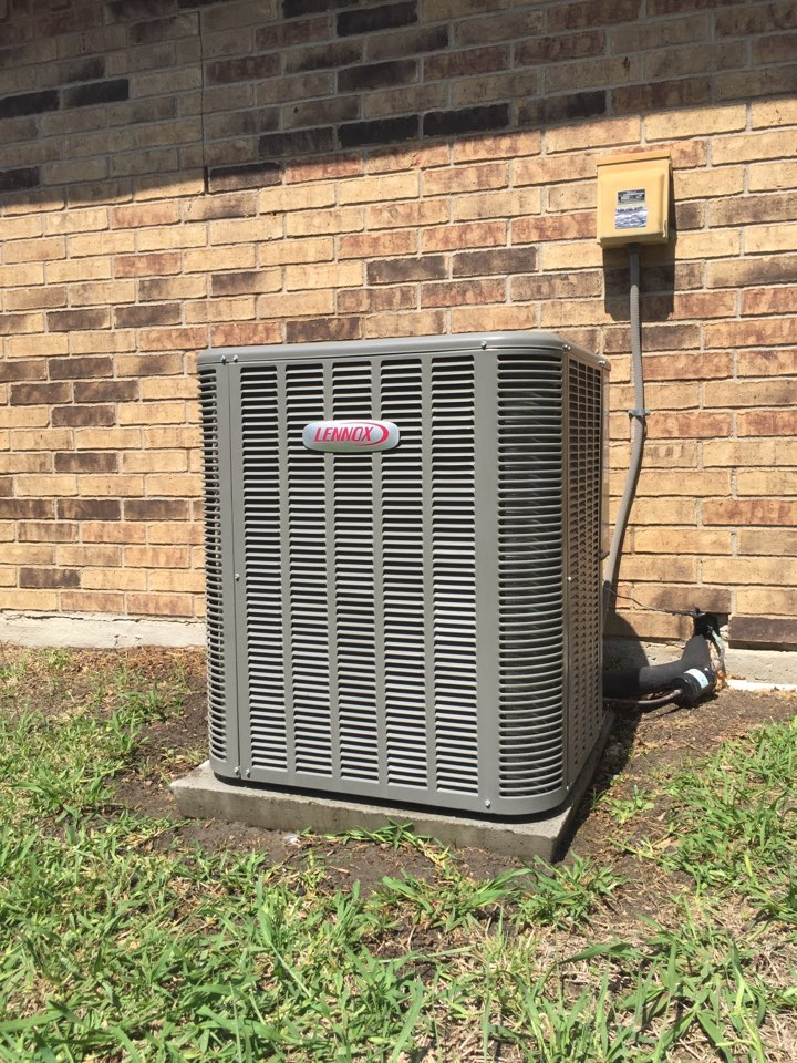 Lewisville, TX - Performing annual AC tune up on a Lennox system. I needed to wash the coils and clear the drain line