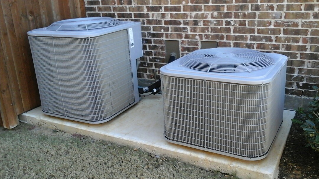 Lewisville, TX - Today we came out for a summer maintenance on three Trane air conditioners.