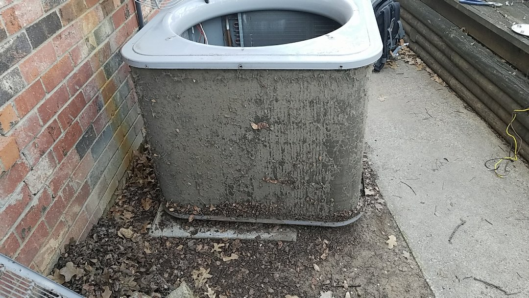 Irving, TX - Cleaning carrier condenser coil for spring maintenance