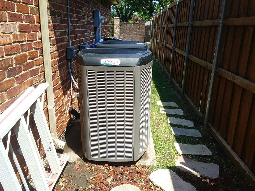Plano, TX - Replace evaporator coil and system maintenance on Lennox air conditioner