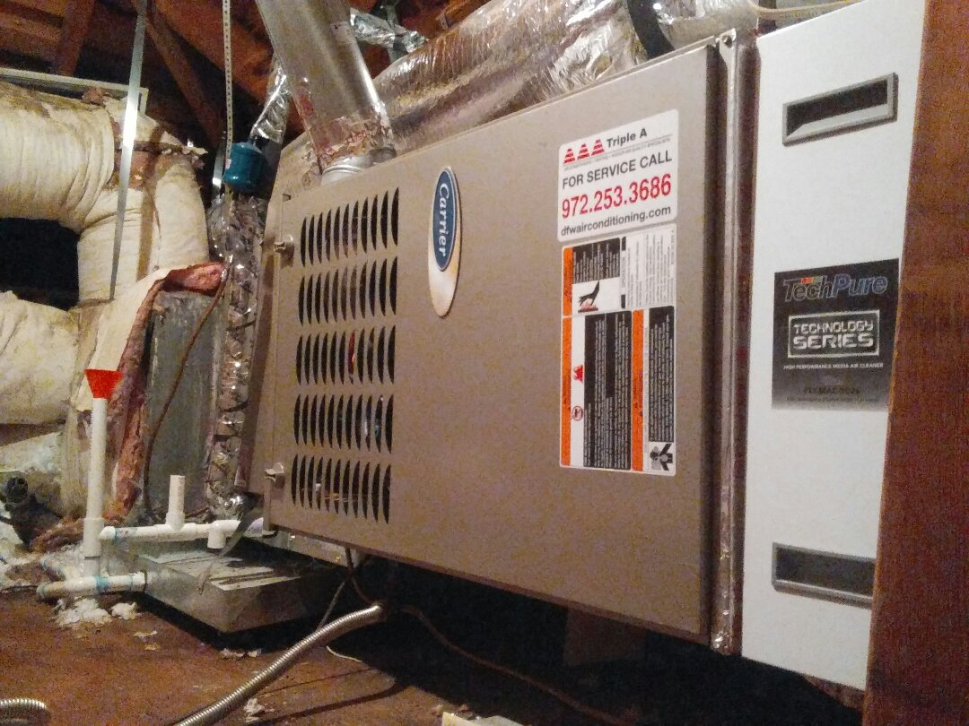 Coppell, TX - Maintenance on a Carrier furnace