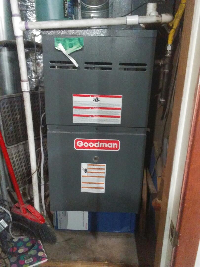 Southlake, TX - Inspection on a goodman furnace