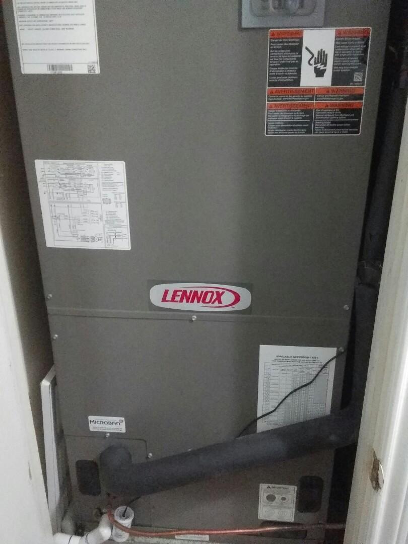 Irving, TX - Installing a Lennox air handler and heat pump