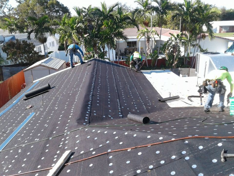 Weston, FL - Tile roof replacement started today in Hollywood Florida