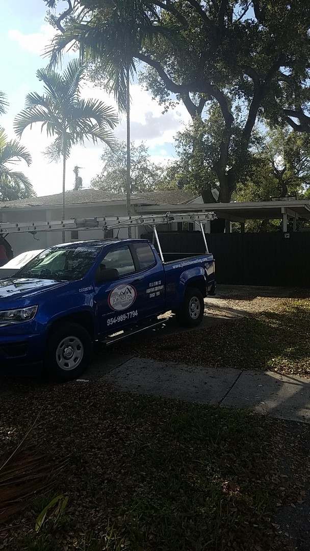 Miami, FL - GAF mineral cap sheet flat roof replacement estimate by Earl Johnston Roofing Company