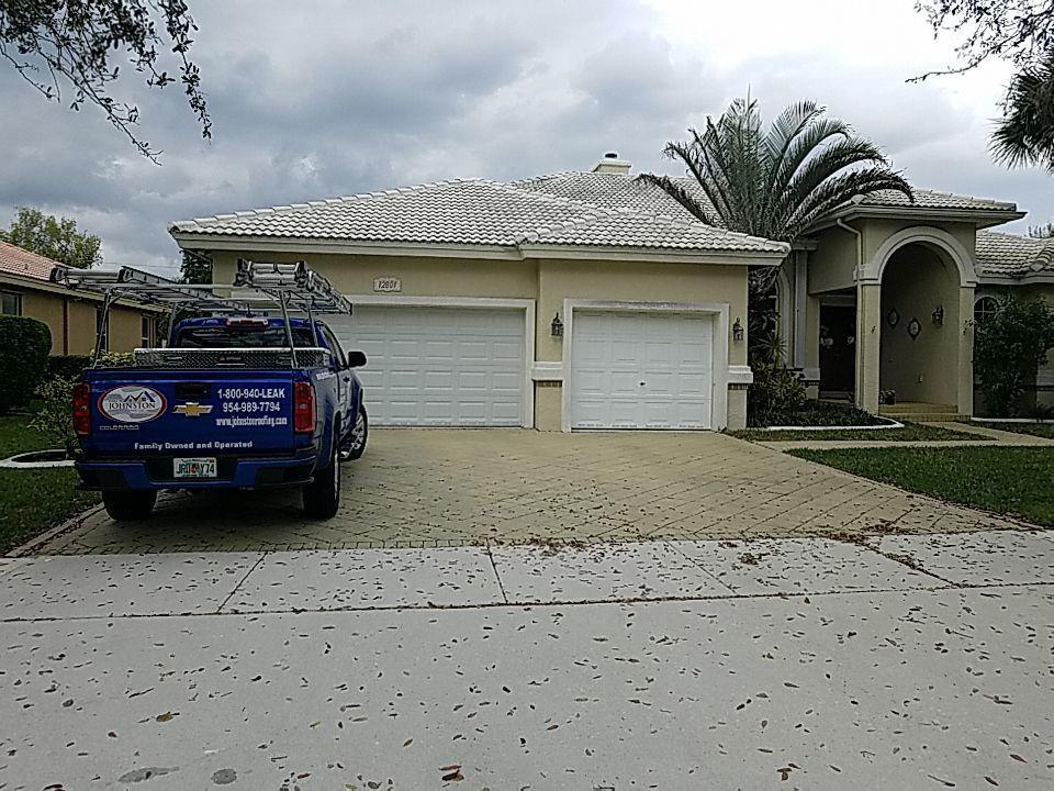 Cooper City, FL - White tile roof replacement estimate in Cooper City Florida