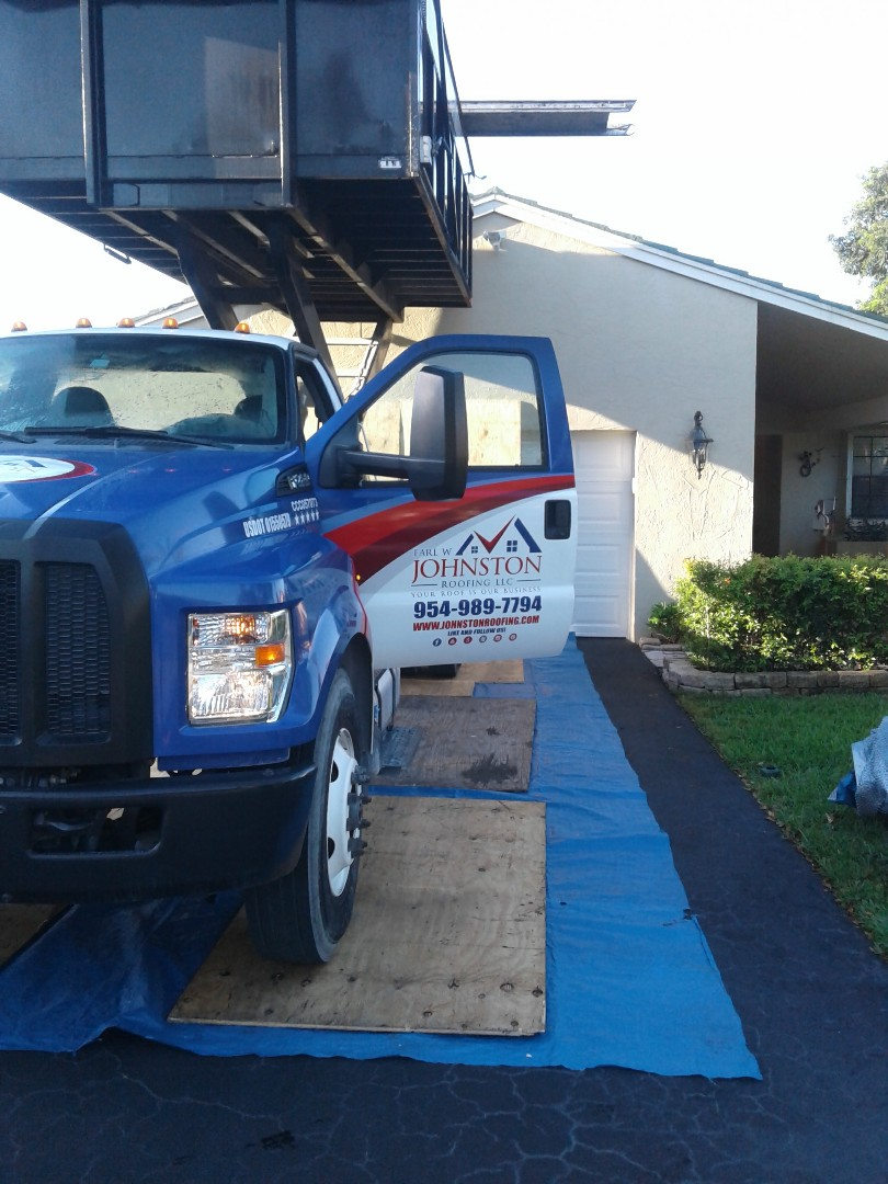 Coral Springs, FL - Starting a 38sq tile reroof in coral springs, by Earl w Johnston roofing.