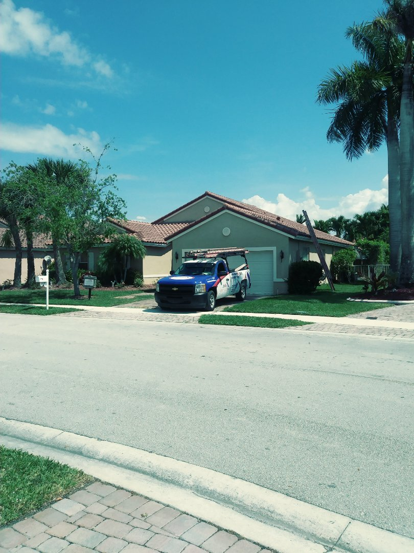 Pembroke Pines, FL - Finished eagle high profile concrete roof tile by earl w Johnston roofing llc