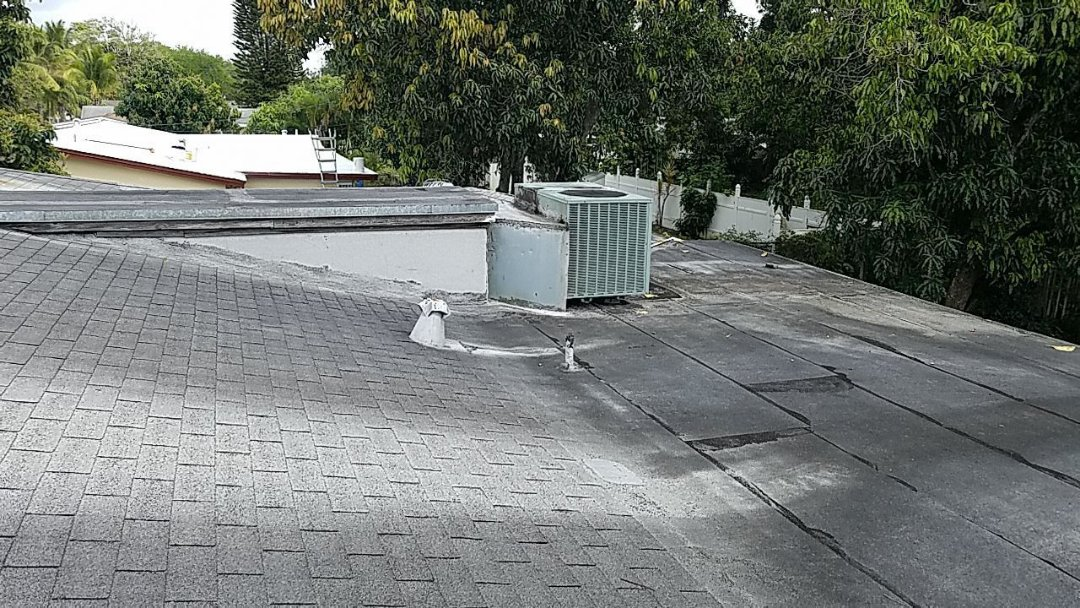 Hollywood, FL - Shingle and flat re-roof estimate in Hollywood,FL