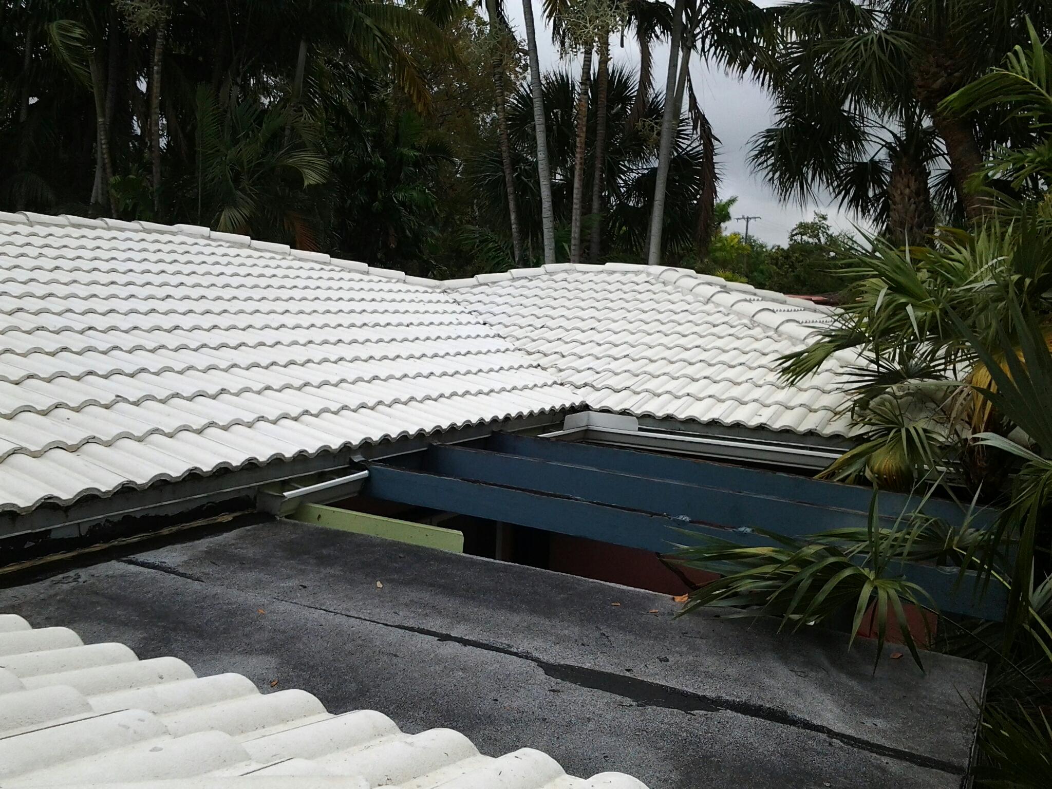 Hollywood, FL - Pressure clean  roof